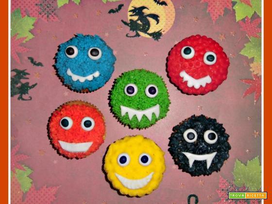 Simpatici mostri-cupcake per Halloween!