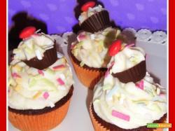 Cupcake con mini cupcake