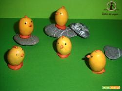 Pulcini confetto facili facili per Pasqua