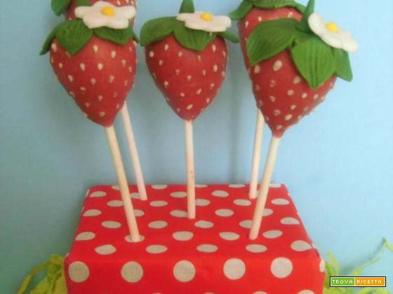 Cake pop a fragolina