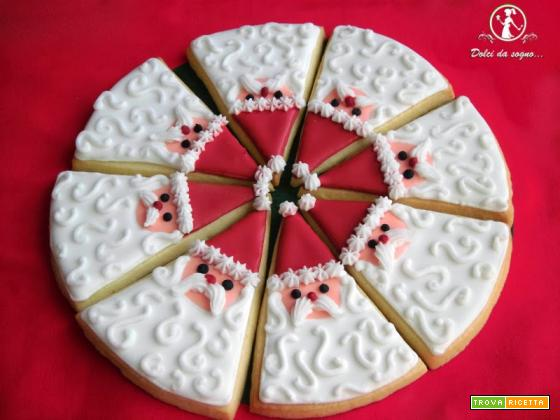 I biscotti di Babbo Natale a spicchi