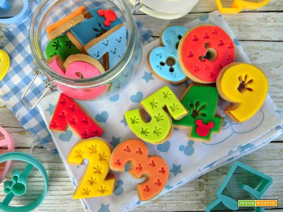 Biscotti a forma di numeri