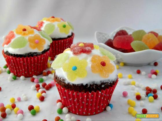 Cupcakes con caramelle gelée