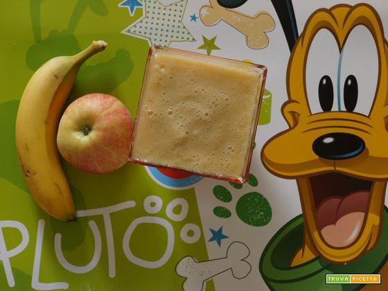 Frullato banana e mela al limone