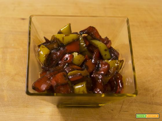 Peperoni con aceto balsamico