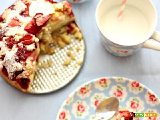 Easy strawberry cake :