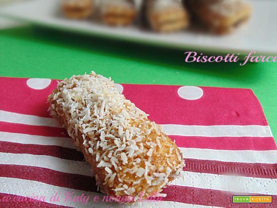 Biscotti farciti alla Nutella e cocco
