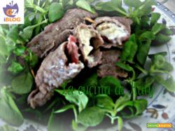 Involtini di carne pancetta affumicata e