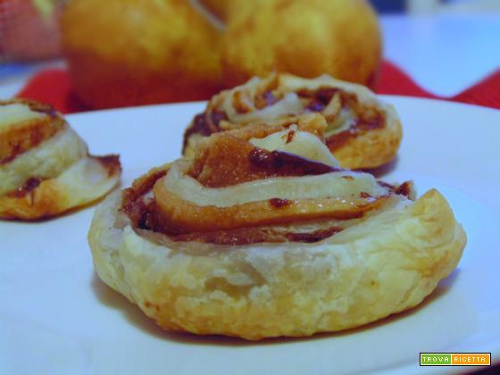Spirali Nutella e pere