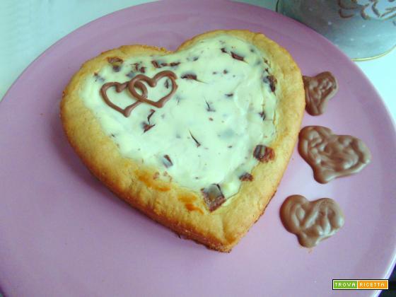 Torta ricotta e gocce di cioccolato | senza uova
