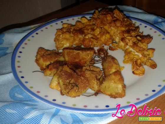 Pollo con panatura ai corn flakes
