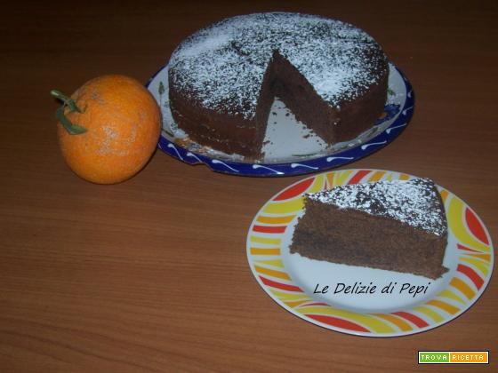 Torta all'arancia e cacao