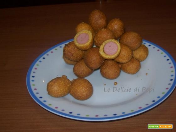 Wurstel pastellati e fritti