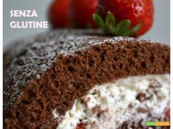 ROTOLO MASCARPONE E FRAGOLE senza glutine