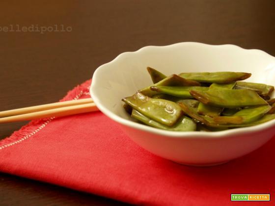 Taccole con salsa di soia
