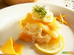 Antiossidanti in tavola: Zucca Gialla marinata con Aceto di Mele, Limone e Arancia in insalata con Finocchi!
