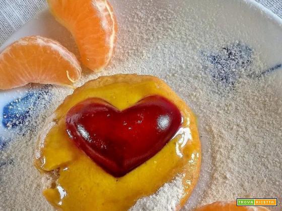 Crostatina di pasta frolla vegana con crema al Limone vegana e CUORE!