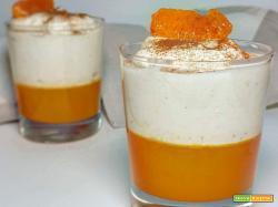 Mousse all'Arancia e Cannella con gelatina di Mandarino