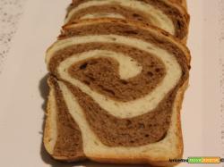 Arrotolato di pan brioche al orzo con lievito madre....