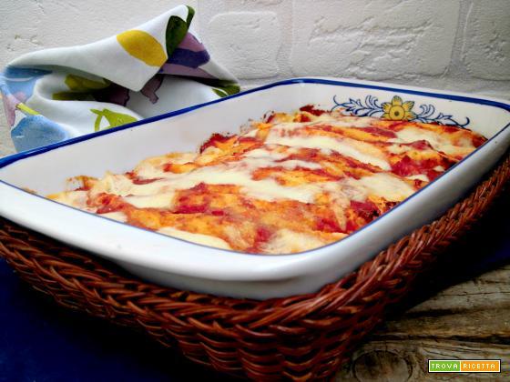 Cannelloni di crepes con prosciutto e fontina