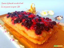 Crostata al plumcake con salsa di mele