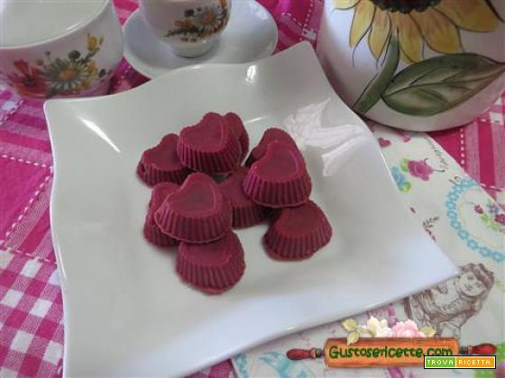 Cioccolatini san valentino frutti rossi