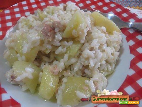 Risotto patate e tonno