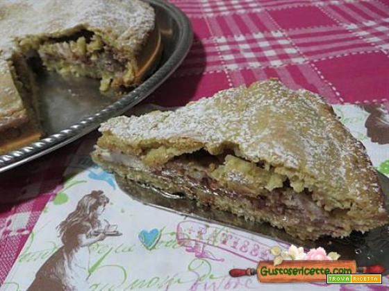 Torta cioccolato e ricotta coperta