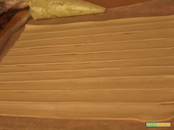 Pesto and ricotta cheese grissini