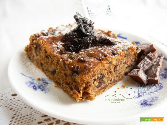 Una coccola dolce per colazione : Dolce GLUTEN FREE e VEGANO con Cioccolato fondente e Prugne secche!