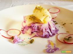 Antiossidanti a Tavola: Insalatina di Cavolfiore Viola, Ravanelli, Pere e Semi di Zucca!