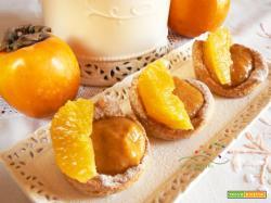 Crostatine Vegane con crema Vegana di Cachi al profumo di Arancia e Cannella