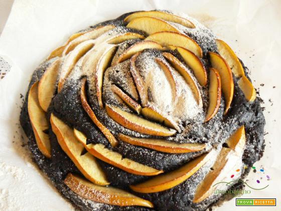 Torta rustica di Mele colorata con il Carbone Vegetale!