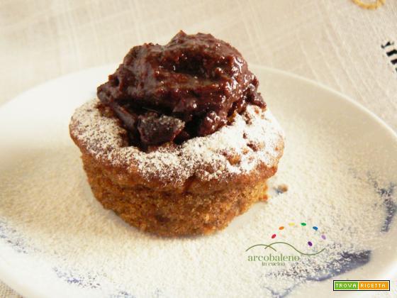 Dolce GOLOSINO, ciambellone GLUTEN FREE  di Carote farcito con Crema Cioccolata Vegana