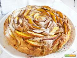 Torta rustica di Pesche al profumo di Cannella... per merenda!