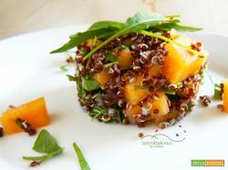 Quinoa rossa in insalata con Melone e Rucola