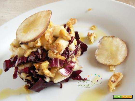 Insalatina di Radicchio, Mela Verde, Noci e Topinambur marinata in Aceto Arcobaleno