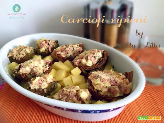 Carciofi ripieni con patate al forno