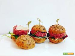 Mini hamburger di tartare