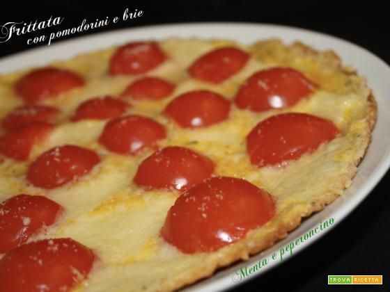Frittata con pomodorini e brie