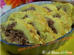 Rotolo di patate con carne e scamorza