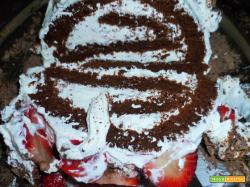 Rotolo con cioccolato fondente