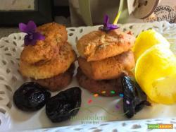 Biscotti GLUTEN FREE  e  VEGANI con Prugne al profumo di scorza di Limone