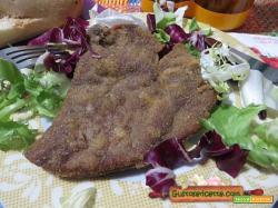 Fegato impanato al curry