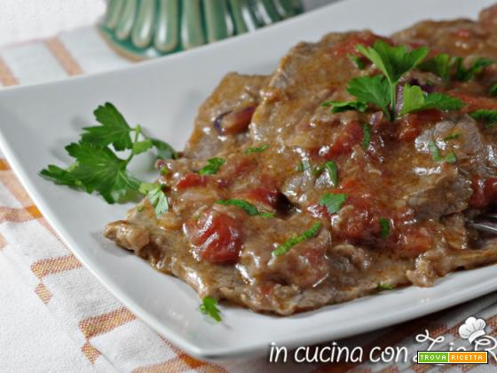 Scaloppine di vitello al pomodoro light