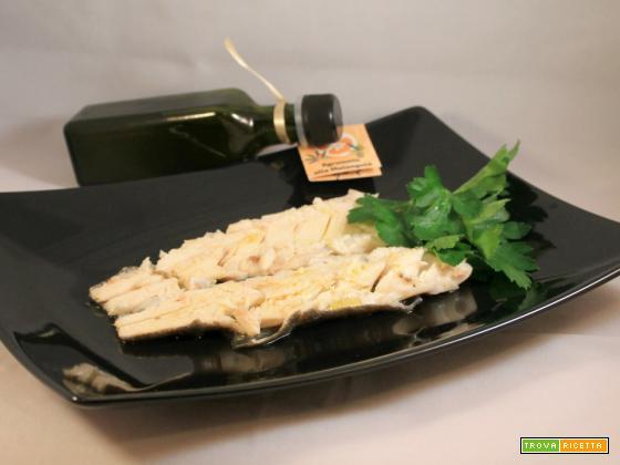 Trota fario con olio agrumato alla melangola