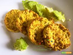 Schiacciatine Vegane e Gluten Free di Lenticchie Rosse e Cavolo Verde ( o Romano)