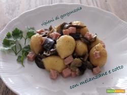Giovedì vogliadignocchi 7: gnocchi ripieni con gorgonzola,  alle melanzane e cotto