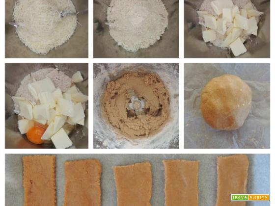 Biscotti salati con farina di castagne col Bimby