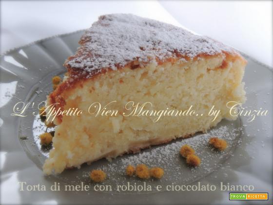 Torta di mele, robiola e cioccolato bianco